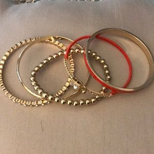 WHBM set of 5 bangle bracelets